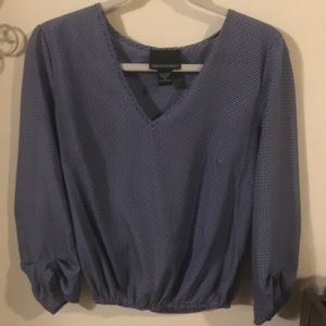 Cynthia Rowley Blue Patterned Blouse